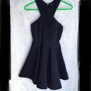 Windsor Navy Blue Sleeveless Skater Party Dress
